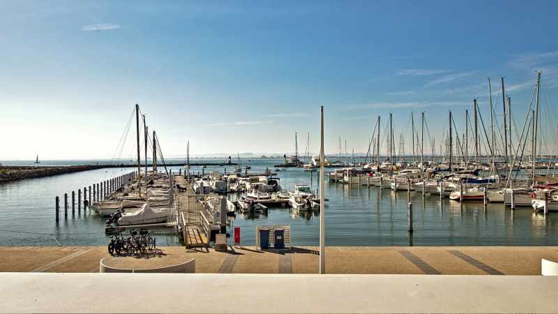 Vue sortie du port, Golfe d'Aigues-Mortes