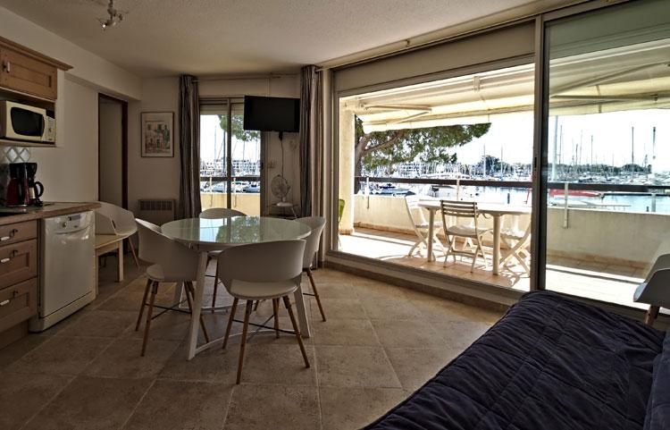 Salon appartement 127 dans les Rivages d'Ulysse