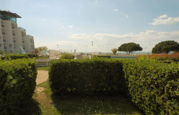 Vue depuis le jardin appartement Résidence Ulysse